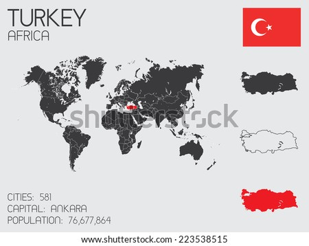 A Set of Infographic Elements for the Country of Turkey - stock vector