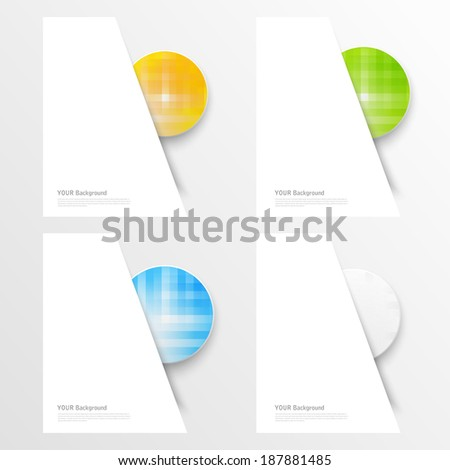 A set of modern vector banners with blue lines - stock vector