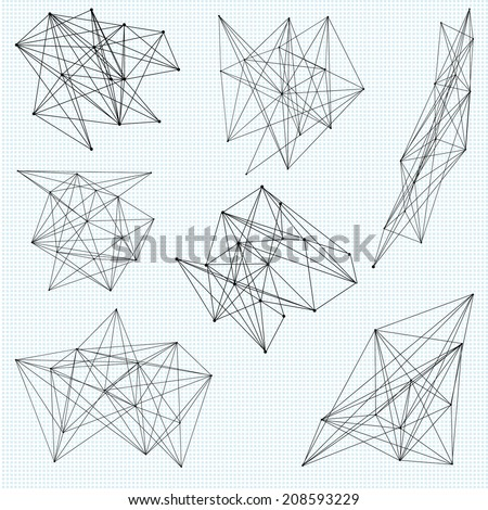 A set of random abstract vector geometric shapes