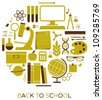 A set of school and education icons. - stock vector