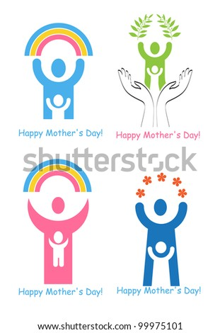 Set Signs Symbols Mothers Day Stock Vector 99975101 Shutterstock