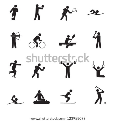 A set of sport icons - stock vector