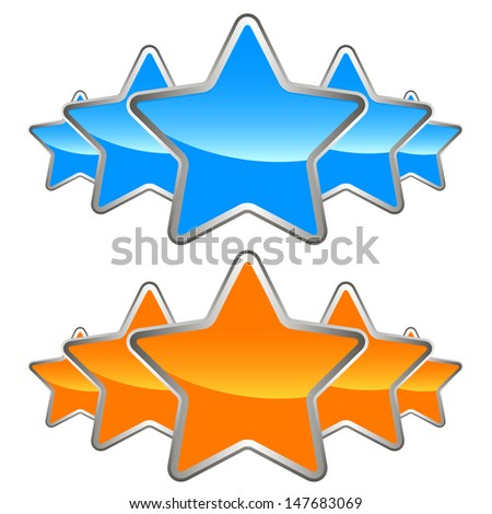 A set of stars - stock vector