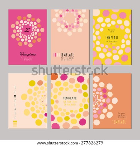 A set of template for card, notebook, album, brochure, booklet, poster. Abstract pattern on a color background. - stock vector