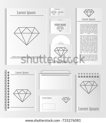 Set templates design business card envelope stock vector 733276081 a set of templates with design business card envelope cover notebooks reheart Choice Image