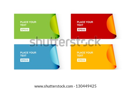 A set of vector colorful stickers - stock vector
