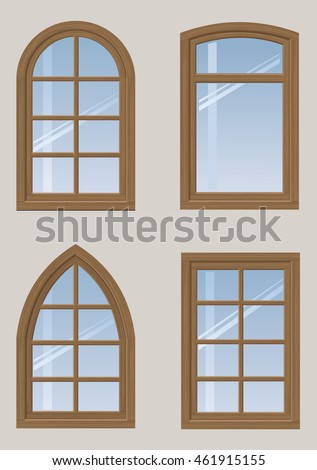 Arch window stock images royalty free images vectors for Window design arch