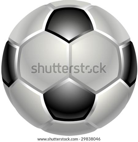 A shiny glossy football or soccer ball icon - stock vector