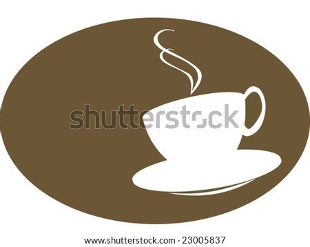 A Silhouette of a tea, coffee or a hot chocolate cup. - stock vector