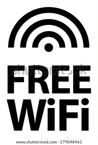 "A simple high impact ""free wifi"" icon. - stock vector"