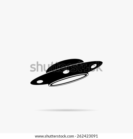 A simple icon of UFO. - stock vector