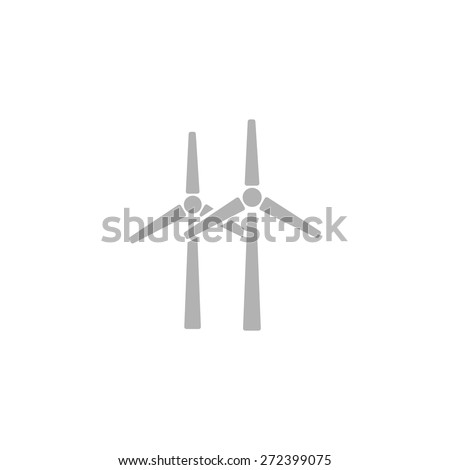 A simple icon of wind turbines. - stock vector
