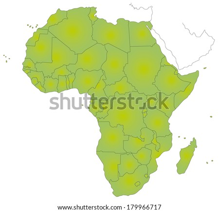 Wonderful A Simple Map Of Africa