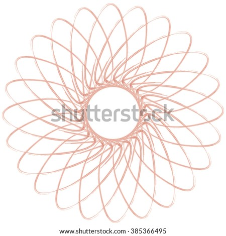 A simple star shaped outline sketch design. - stock vector