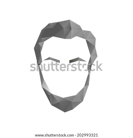 A simple vector symbol of Abraham Lincoln in a polygonal style - stock vector