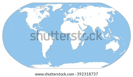 Simple World Map Drop Shadow Robinson Stock Vector (Royalty Free ...