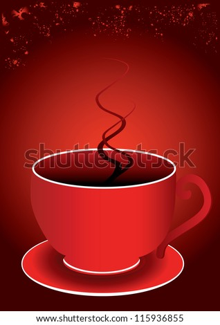a single red cup and a red background