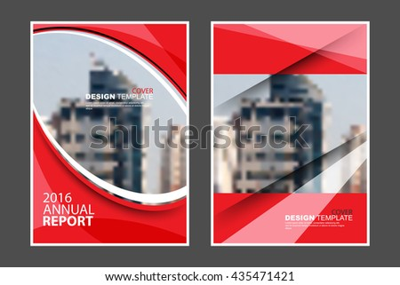 A4 size, abstract flat layout wave and straight lines elements marketing business corporate design template. eps10 vector - stock vector