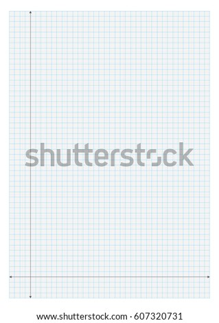 A Size Graph Paper X Y Stock Vector Hd Royalty Free