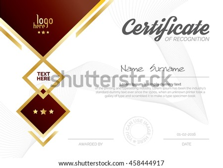 A4 size horizontal certificate layout template stock vector a4 size horizontal certificate layout template design yadclub Gallery