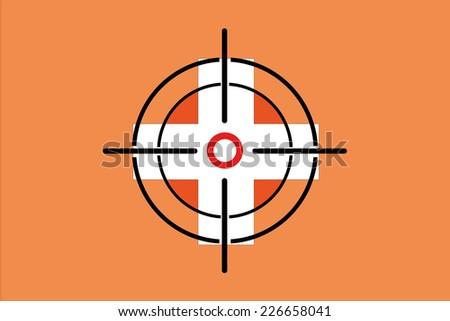 Sniper Scope On Flag Vietnam Stock Vector 226657933 ...
