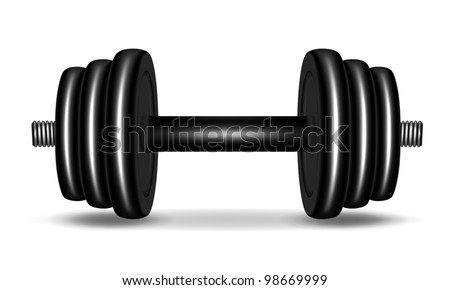 A spin-lock adjustable dumbbell - stock vector