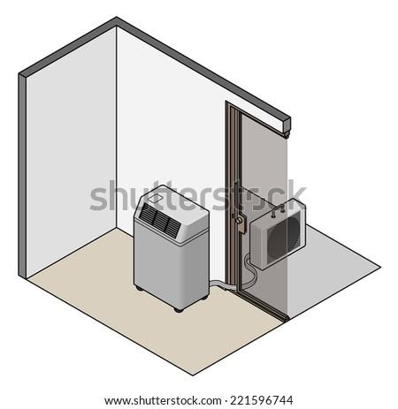 Splitunit Portable Air Conditioner Heat Exchanger Stock