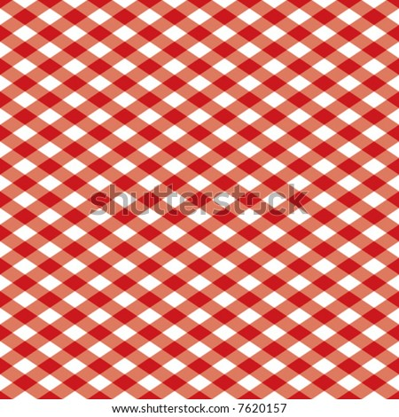 "A 12"" square seamless vector checkered pattern in red and white. - stock vector"