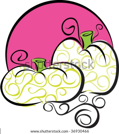 A stylish pumpkin vector, would make nice embellishment for fall party invitations or office memos - stock vector