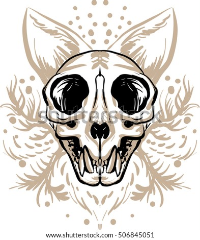 vector skull artwork stock vector 136907732 - shutterstock
