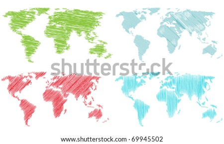 A stylized map of the world - stock vector