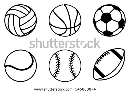 sports vector balls sport different super background ball light shutterstock soccer basketball football collection vectors preview