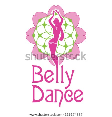 Symbol Belly Dances Silhouette Figure Girl Stock Vector 119174887
