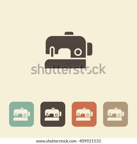 A symbol of sewing and needlework. Sewing machine - stock vector