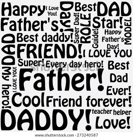 A Tag Cloud With Different Words Refering To Fathers Day