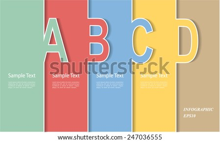 A Template. Can be used for workflow layout, banner, diagram, web design, infographic Vector Eps10 - stock vector