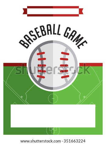 Template Flyer Background Baseball Game Vector Stock Vector ...