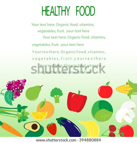 Template Brochure On Healthy Food Vegetables Stock Vector 394880884