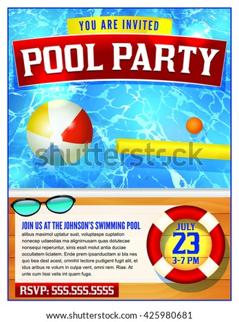 Pool Party Invitation Stock Images RoyaltyFree Images  Vectors