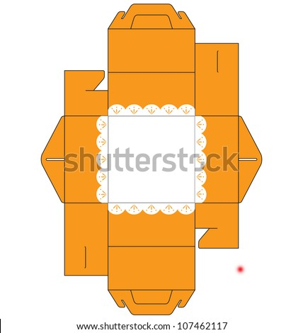 Template small square cake box decorated stock vector 107462117 a template of a small square cake box decorated with simple flower at the bottom pronofoot35fo Choice Image