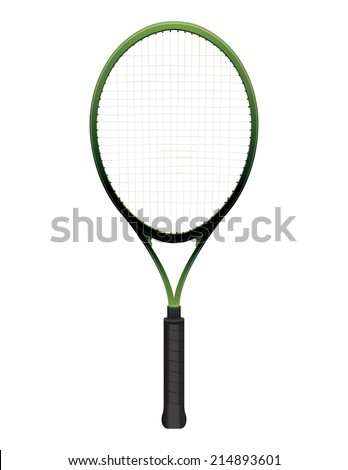 A tennis racquet illustration isolated on white. Vector EPS 10. EPS contains transparencies. - stock vector