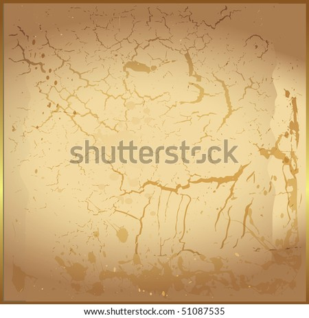 A textured background with subtle stains and cracks. - stock vector
