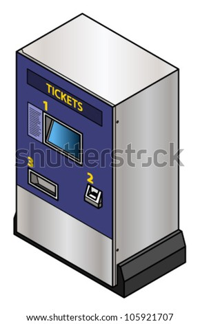 A ticket vending machine TVM commonly use for train and bus tickets.