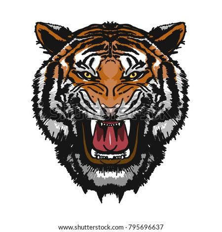 tiger head logo this illustration ideal stock vector 2018 rh shutterstock com tiger head logo free tiger head logo free