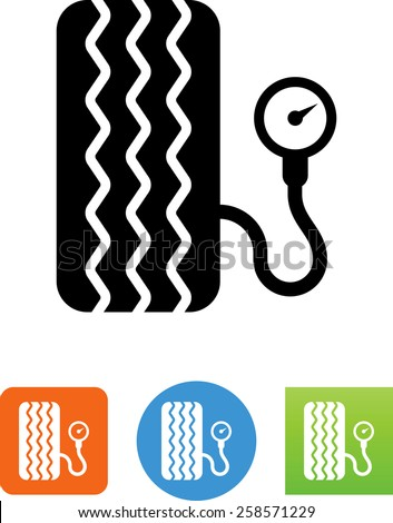 A tire pressure gauge. Vector icons for video, mobile apps, Web sites and print projects.  - stock vector