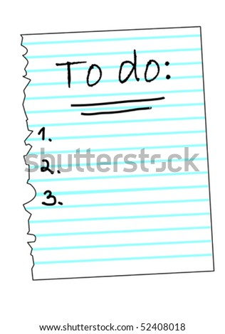 A To Do klist with tasks to do, vector illustration - stock vector