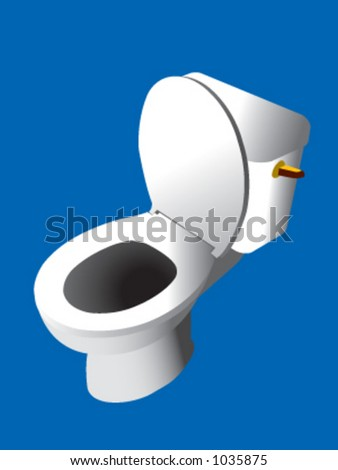 A toilet in vector format - stock vector