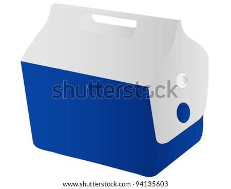 A Travel Cooler Isolated on White - stock vector