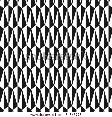 A triangular, bold vector pattern - stock vector
