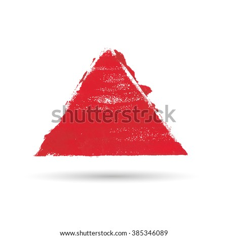 a triangular figure drawn with paint. Watercolor texture, background or frame